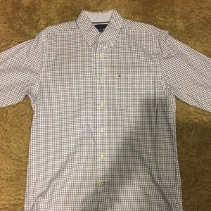 Tommy Hilfiger blue plaid button up size small